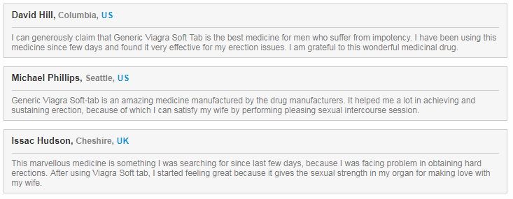 Honest Reviews for the Performance of Viagra Soft tabs