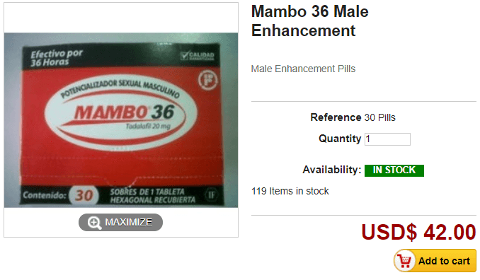 Mambo 36 Price