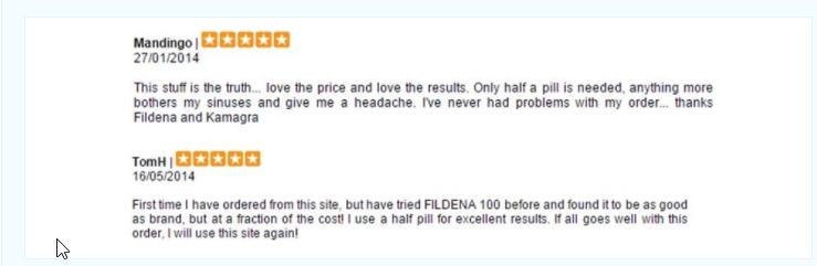 Fildena Consumer Comment